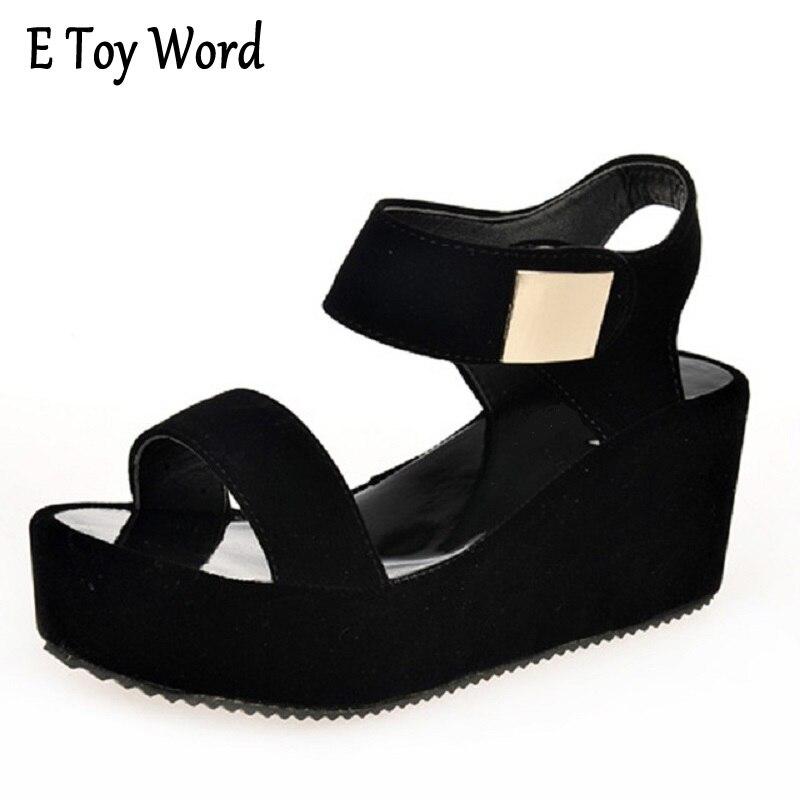 f1a328bd4b E juguete palabra 2018 nuevas mujeres cuñas Sandalias Mujer plataforma  sandalias moda hebillas verano Zapatos mujeres zapatos casual envío  libre-in ...