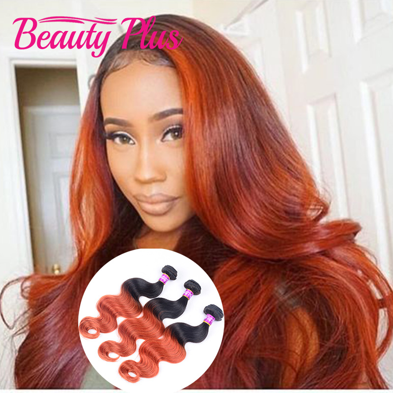 Red Human Hair Weave Styling Hair Extensions