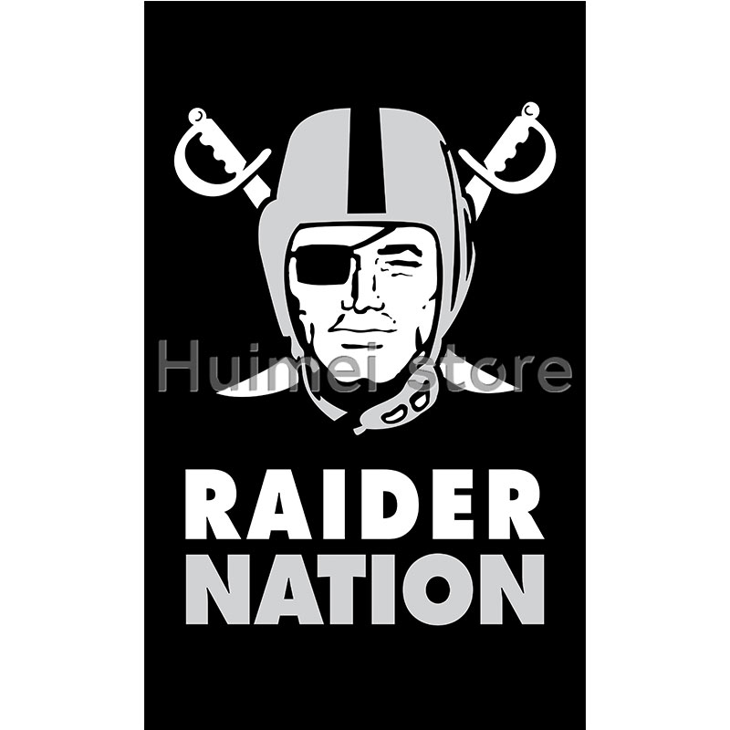 Oakland Raiders Flag 3ft X 5ft Flag Banner Polyester Digital Print