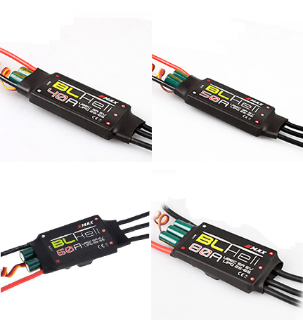 1 unids Emax blheli serie 40A 50A 60A 80A BEC con ubec ESC electrónico del regulador de velocidad para quadcopter