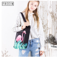 Large Fashion Shoulder Bag Shopping Soft Printing Cactus Giraffe Zopper for Women Student College Teegnae Canvas Crossbody Bags