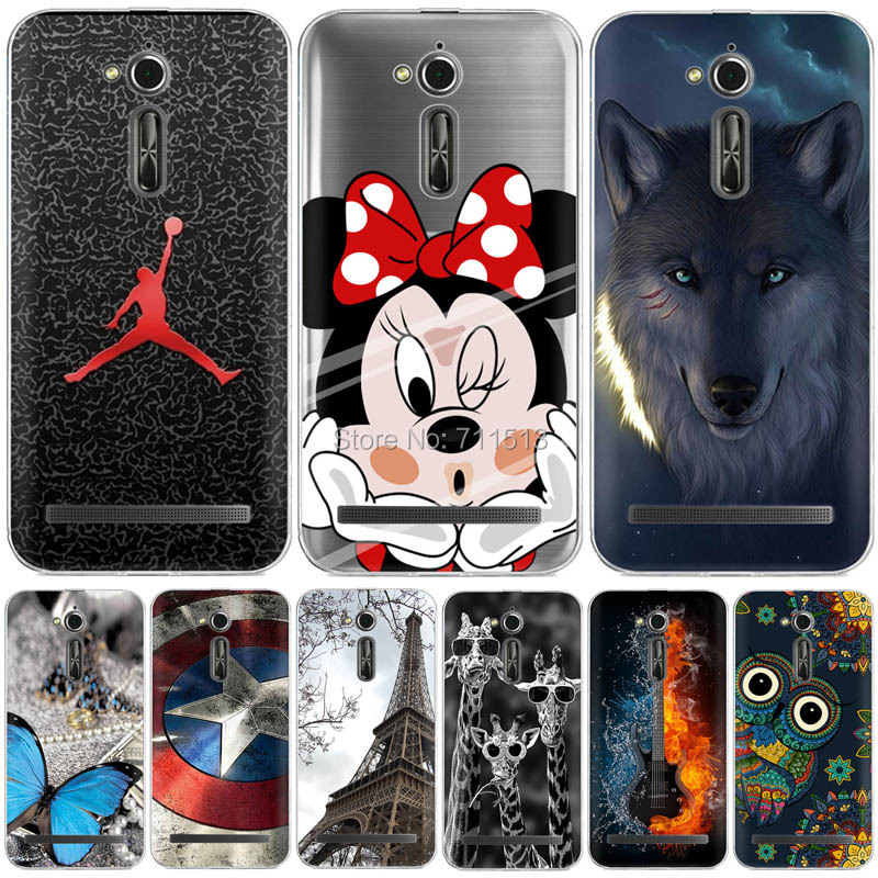 new styles fa246 08c2d US $1.99 20% OFF|Newest Silicone Rubber Case for Asus Zenfone Go ZB500KL  5.0
