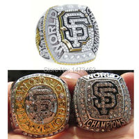 Free shipping One Set 3PCS 2010 2012 2014 San Francisco Giants World series championship ring Size 11 solid back
