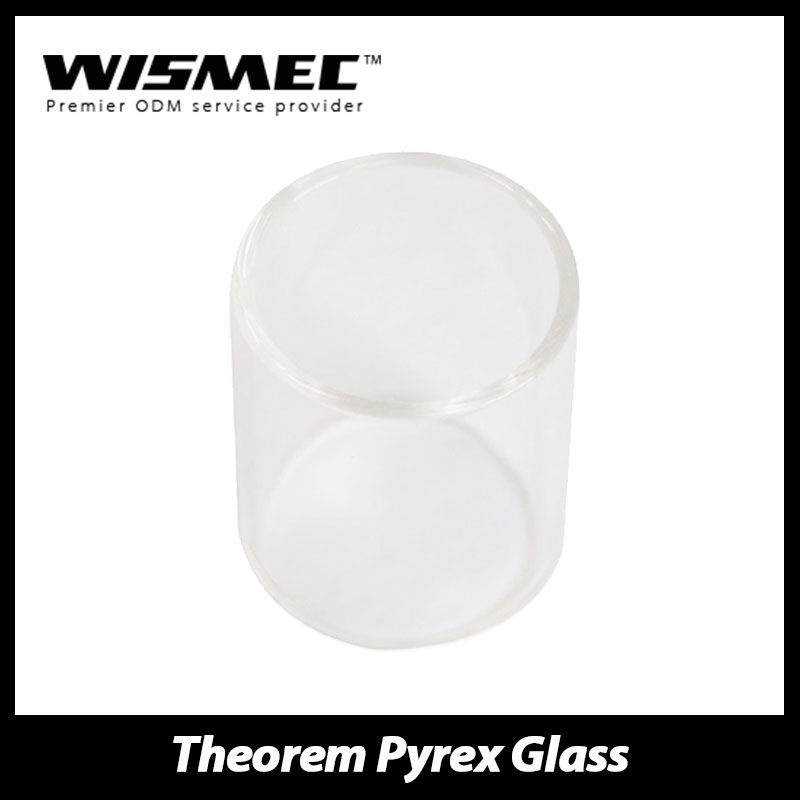 100% Original WISMEC Theorem RTA Atomizer Tank Glass Tube Pure Replacement Glass Tube Electronic Cigarette Tube from Wismec