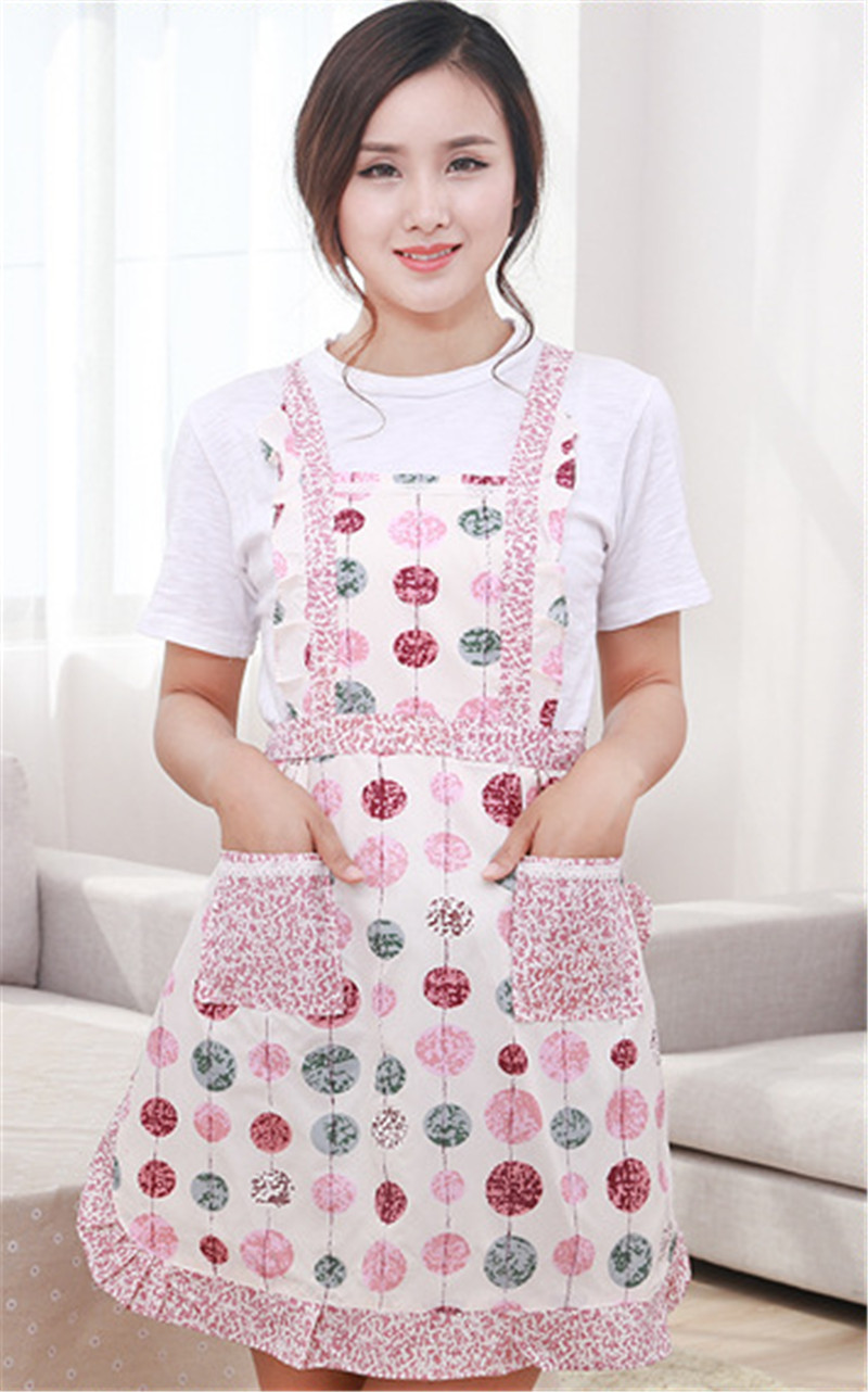 Electronic Components & Supplies Painstaking 1 Pc Flower Pattern Apron Women Lady Home Cooking Baking Coffee Shop Cleaning Aprons Kitchen Accessories Quality First Home Decor