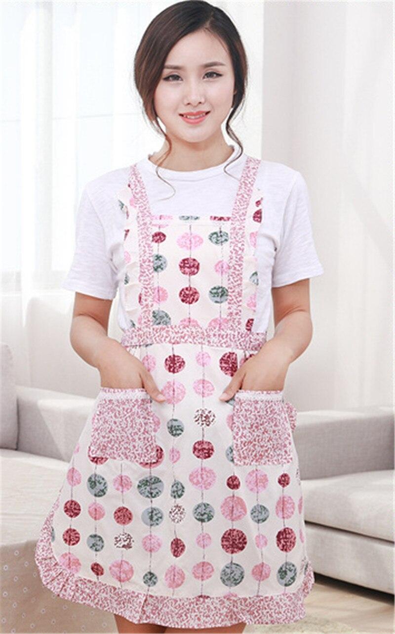1 St Bloem Patroon Schort Vrouwen Lady Thuis Koken Bakken Koffie Winkel Schoonmaken Schorten Keuken Accessoires