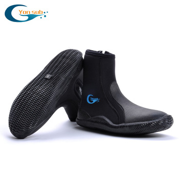 YONSUB 5MM Neoprene Scuba Vulcanization High Upper Diving Boots Anti-slip Adult Diving Boots Warm Fins Spearfishing Shoes 1