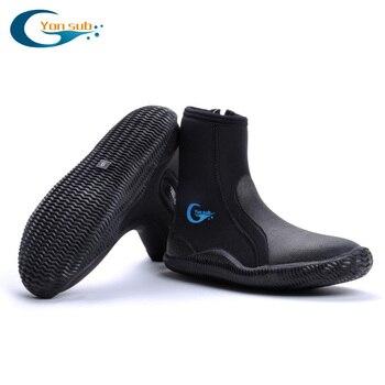 YONSUB 5MM neopreno buceo vulcanización alto superior botas de buceo antideslizante adultos botas de buceo caliente aletas botas de pesca submarina