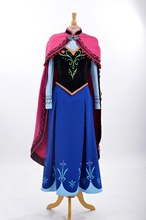 customized made anna princess costume anna luxurious cosplay cotume anna costume for grownup girls