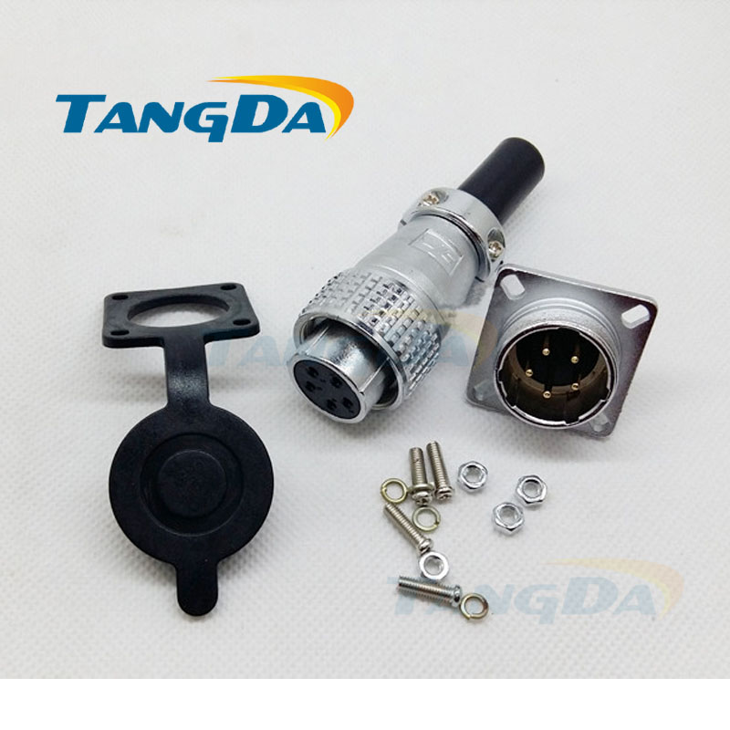 Tangda Aviation Plug connectors PLS20 P20 2 3 4 5 6 7 8 9 10 12 pin core P 20mm square flange Socket 2p 7pin 8pin 9pin 10pin 12p starpad for atv for former bulls great big dinosaur 1 trailer 2 brake hydraulic disc brake assembly one with two double disc