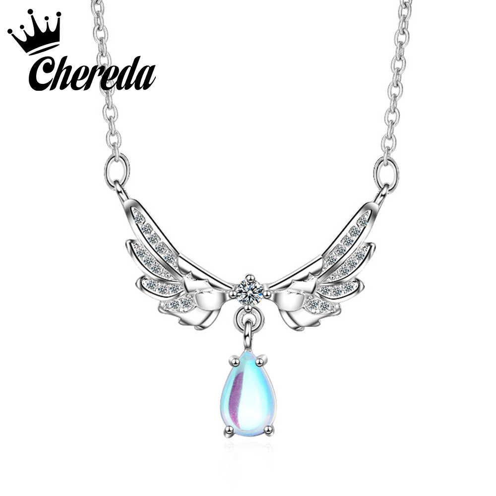 Chereda خمر النساء الراين قلادة قلادة الزركون الجناح حليات المجوهرات الرائعة فريد بيجو فام الاكسسوارات بالجملة