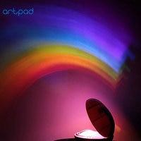 Artpad Egg Shaped Multi Color Rainbow Light LED Night Light Child Baby Kid Bedroom Atmosphere Projection
