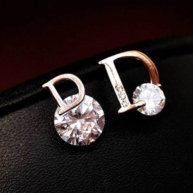 EH403 DI famous luxury brand New jewelry small letter D designer flowers  brincos bijoux bijouterie earrings 7334126a7335