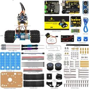 Image 2 - Keyestudio DIY מיני טנק חכם רובוט רכב ערכת לarduino רובוט חינוך תכנות + ידני + PDF (באינטרנט) + 5 פרויקטים