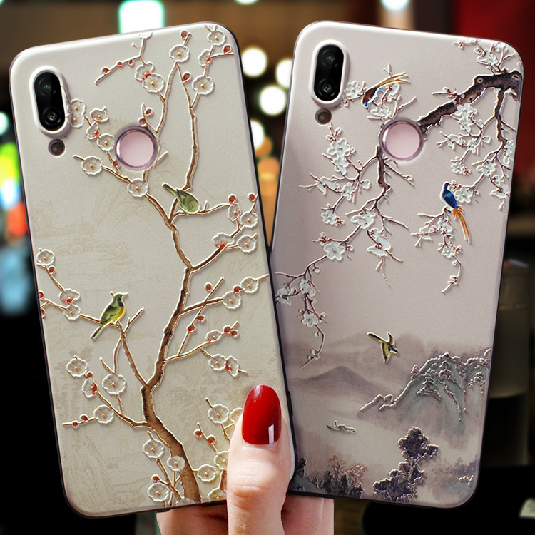 3D Relief Flower TPU For Huawei Honor 7A View 20 8X 10 9 Mate 20 P40 P30 P20 Pro Lite Y6 Y9 Prime 2017 2018 P Smart Z 2019 Case(China)