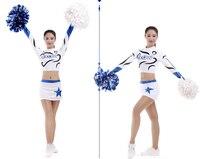 1 set cheerleader costume Girls cheerleader uniform outfit lycra fabric custom style short top +skirt pick color pick size