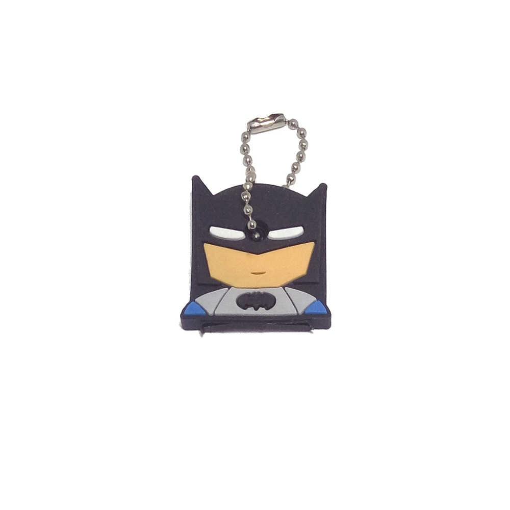 Super herói anime chave capa de silicone batman hulk chaveiro anel feminino porte clef homem de ferro chaveiro novo exótico novo