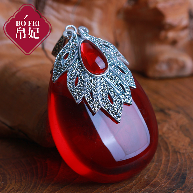 72cm princess 925 sterling silver necklace girls natural semi 72cm princess 925 sterling silver necklace girls natural semi precious stones red garnet pendant large maple leaf with chain in pendants from jewelry aloadofball Choice Image