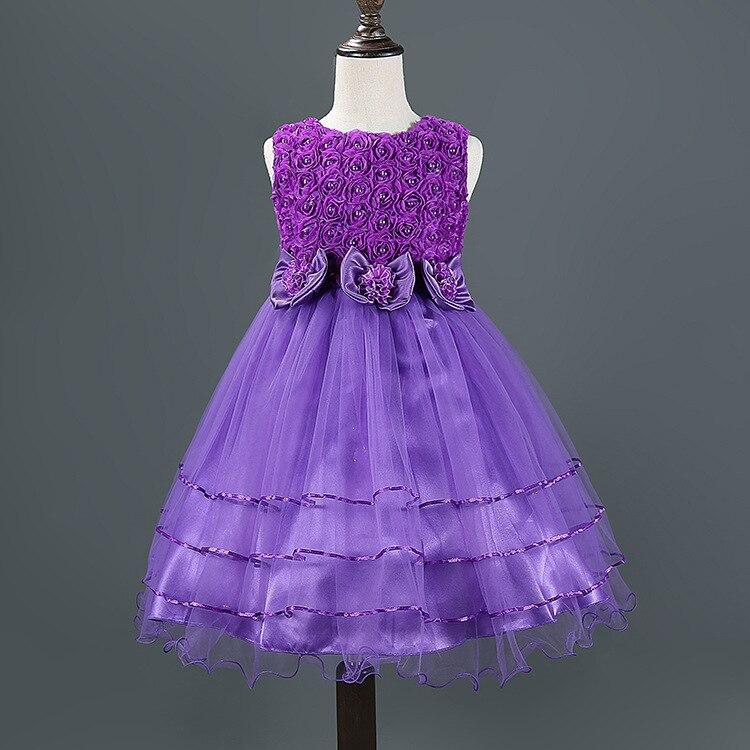 cbaa30e2f Kids dress 2016 Summer style baby girls flower lace princess party ...