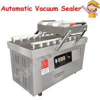 Automatic Vacuum Food Sealer Double Chamber Vacuum Dry Wet Vacuum Sealed Baking Sealing Machine Steel Sealing