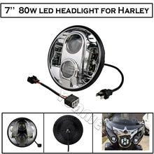 1 STÜCKE 7 Zoll 80 Watt LED Scheinwerfer H4 DRL Hallo/Lo Motorrad Projektor Daymaker Scheinwerfer Für Harley Jeep Wrangler Hummer