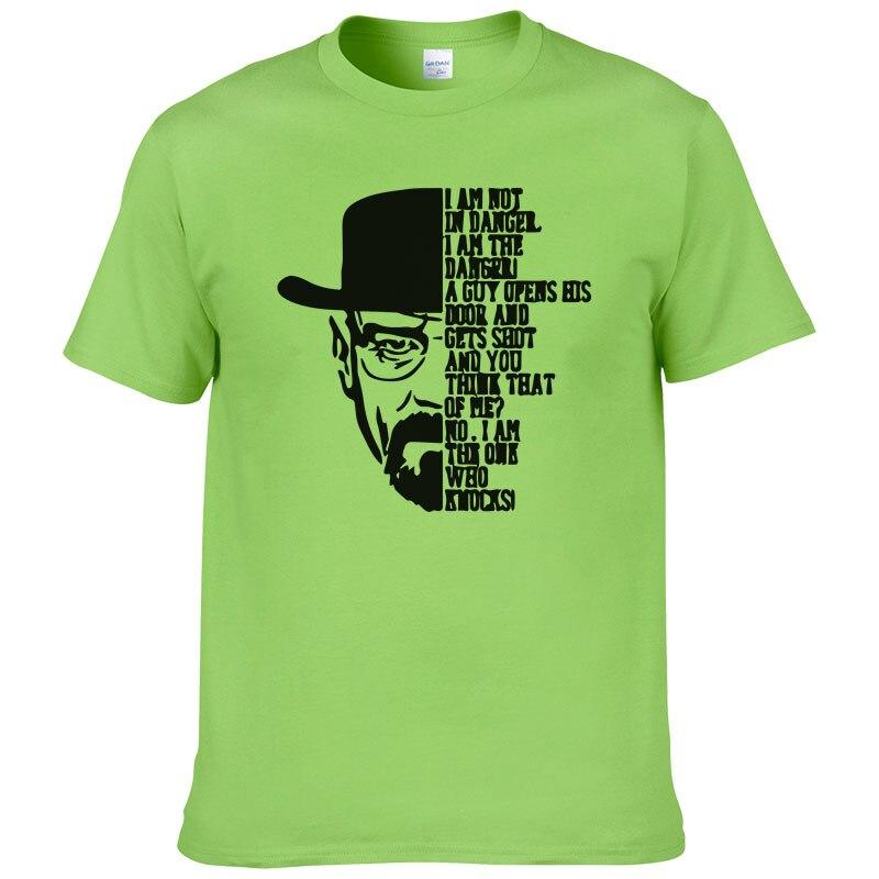 Мужская хлопковая футболка с принтом, летняя стильная модная футболка с коротким рукавом и круглым вырезом, футболки BREAKING BAD, Swag, Мужская фут...