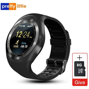 Y1 montre intelligente ronde Bluetooth carte SIM SmartWatch télécommande caméra commandes femme mâle Fitness Pacemaker sprot montre