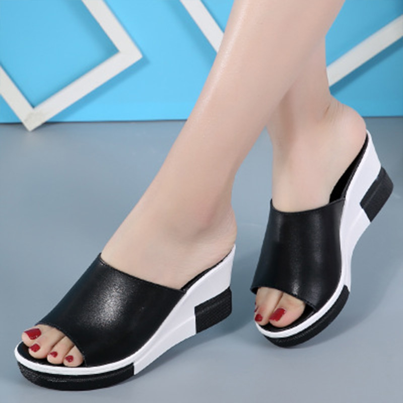 PROWOW <font><b>Women</b></font> <font><b>Sexy</b></font> Bling <font><b>Wedges</b></font> <font><b>High</b></font> <font><b>Heel</b></font> <font><b>Slippers</b></font> <font><b>Women</b></font> Fashion Round Toe <font><b>Slippers</b></font> Flip Flop <font><b>Shoes</b></font> chinelo feminino ver 2019 New image