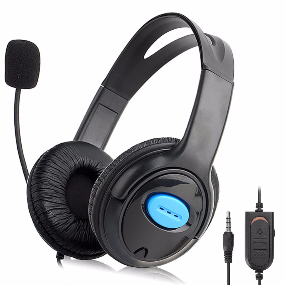 Noise Cancelling 3.5mm Plug 1.2m Wired Gaming Headphone With Rotatable Boom Microphone Gaming Headset For PS4 sy850mv new gaming headsets with lights portable office wired noise cancelling headbands with microphones for computers pc