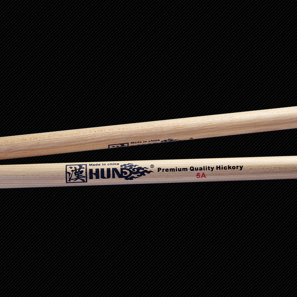 HUN 5A Drumsticks Premium Quality Americon Hickory Percussion Drum Hammer Sticks 1 pair