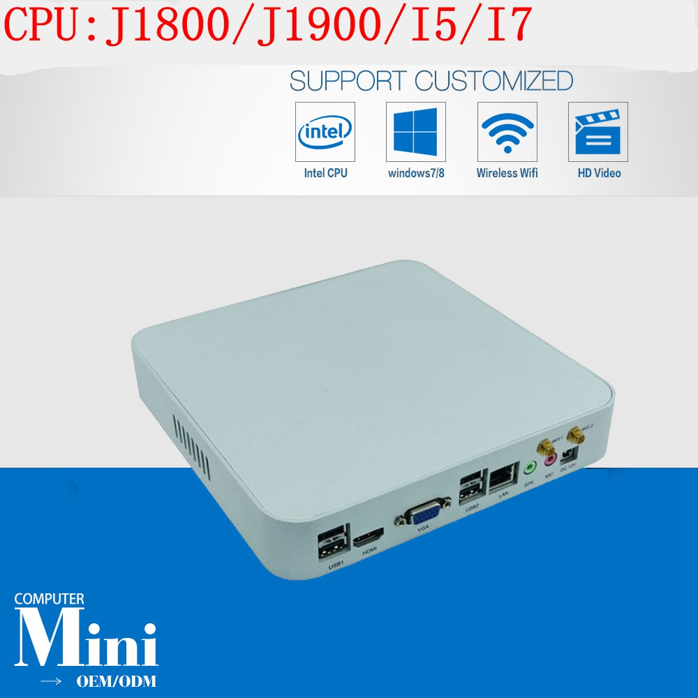 3 Years Warranty Cheap DIY Mac Mini PC Windows Preinstalled HTPC 1080P Intel Core I5 I7  J1800 J1900 2GB Ram 16GB SSD 300M Wifi