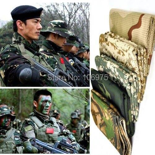 ARMY SCRIM NET SCARF 1m x 1m Sniper Wrap Ghillie Camo Face Veil Netting Cloth