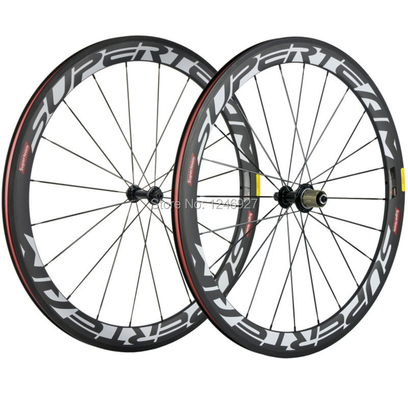 Superteam White Decal US Warehouse Clincher 50mm Carbon Wheels Basalt Braking Matte R13 Carbon Road Wheelset Clincher