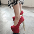Free Shipping fashion Sexy High Heel Shoes Polka Dot Platform Pumpwomen Shoes slip-on High Quality Women Pumps