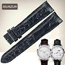 Ремешок из натуральной крокодиловой кожи для часов glashutte/senator/100