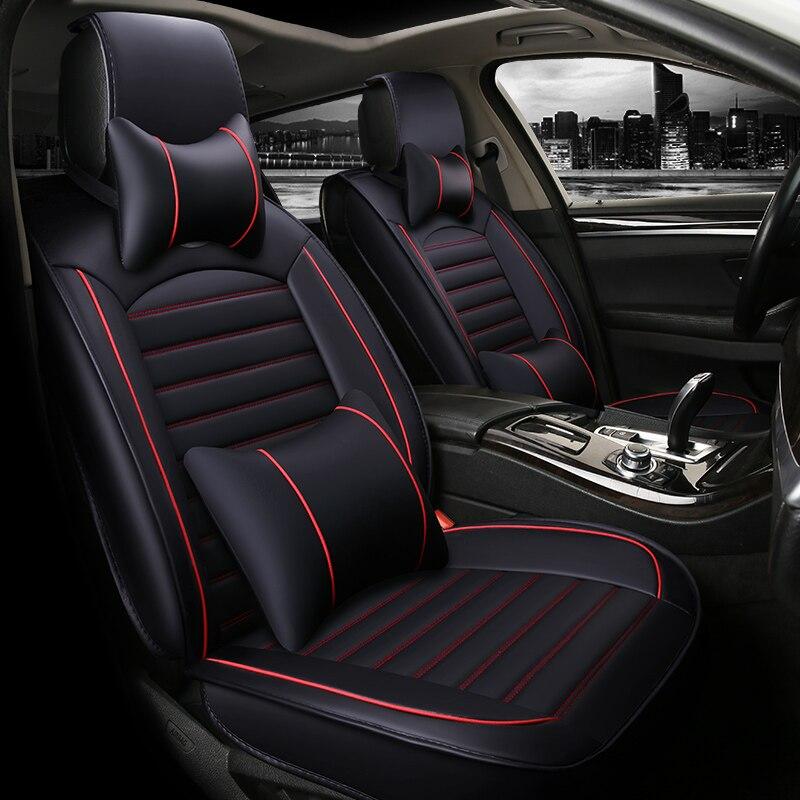 Housse de siège auto housses de sièges en cuir pour mitsubishi asx colt evolution galant grandis l200 lancer 9 10 x ix 2009 2008 2007