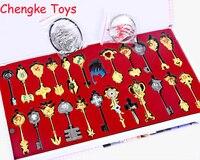 25 sztuk/zestaw 6 cm Fairy Tail Lucy Cosplay Key Brelok Skala & Free Różowy Tatuaż Heartfilia znak zodiaku złoty Klucz