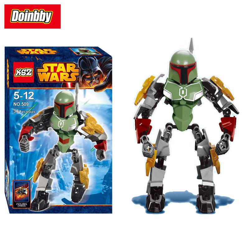 New Creative KSZ 509 Star Series Wars Mini Boba Fett Figure Building Block Toys Kids Gifts Compatible Legoings 75533