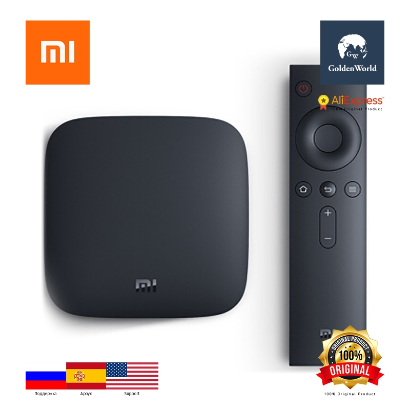 Original Xiaomi Mi 3C TV Box Amlogic S905 Quad Core / 64bit Android 5.0 2.4GHz / 5.0GHz Dual Band WiFi / Chinese Version m8 fully loaded xbmc amlogic s802 android tv box quad core 2g 8g mali450 4k 2 4g 5g dual wifi pre installed apk add ons