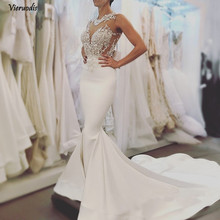2019 New Arrive Sexy Mermaid Wedding Dresses Fashion High Quality Lace Bridal Gowns Backless Long