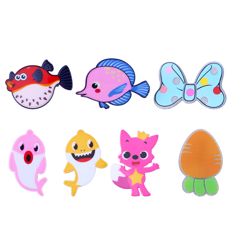 Fish Hair Clips Set For Children Girls Baby Aligator Claw Women Hair Accessories Cute Animal Fox Dolphin Metal Barrette Hair Pin