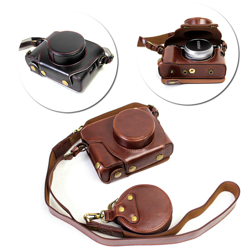 High Quality Camera Bag PU Leather Case for Fujifilm X100F x100f with Bottom Battery Opening+Small Storage BagHigh Quality Camera Bag PU Leather Case for Fujifilm X100F x100f with Bottom Battery Opening+Small Storage Bag