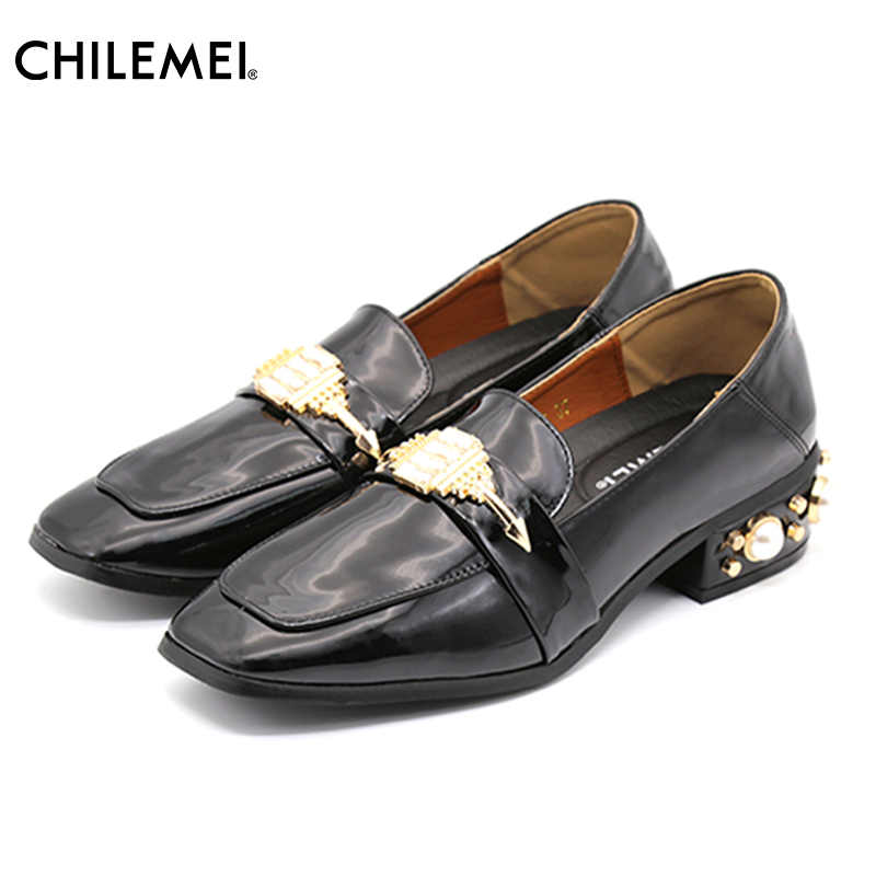 Fashion Women's Pumps Office Lady Shoes Retro Square Toe Elegant Pearl Heels Female Concise Design Slip On Same Style As Star емкость для хранения альтернатива бочонок 3 л