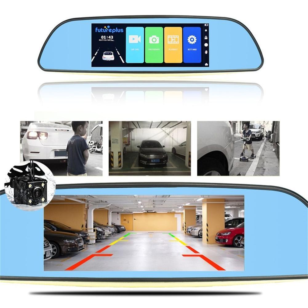 Car Dvr WDR Dual Lens Reverse Auto Dash Camera 1080P HD Car Recorder 170 Degrees 7.0-inch Display Screen Vehicle RecorderCar Dvr WDR Dual Lens Reverse Auto Dash Camera 1080P HD Car Recorder 170 Degrees 7.0-inch Display Screen Vehicle Recorder
