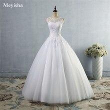 ZJ9036 lace Branco Marfim Vestidos de Casamento Vestido de Renda acima para trás Croset 2019 para a noiva plus size maxi Cliente fez tamanho 2 26 W