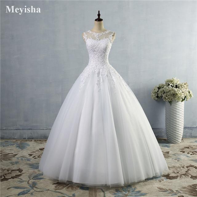 ZJ9036 lace Branco Marfim Vestidos de Casamento Vestido de Renda acima para trás Croset 2019 para a noiva plus size maxi Cliente fez tamanho 2-26 W