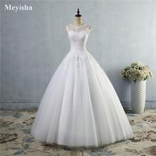 ZJ9036 Кружева Белый Кот платье со шнуровкой сзади Крозе свадебные платья 2019 для невесты Большие размеры Макси клиент сделал размер 2  26 W
