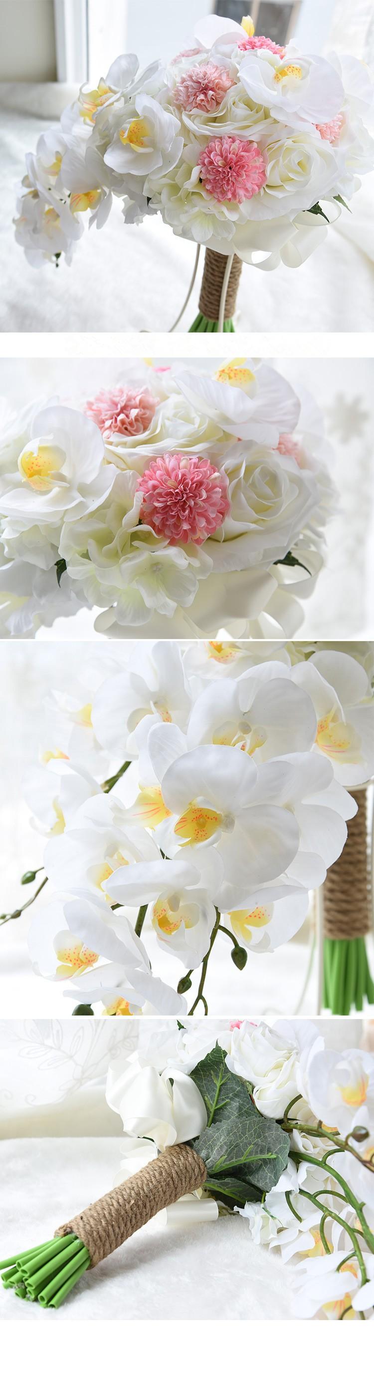 Artificial Waterfall Droplets Wedding Bouquets For Brides White Flowers Bridal Brooch Bouquets Ramo De Novia 2016