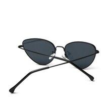 Retro Vintage Sunglasses Women Small Face Luxury Cateye Pink Ladies Sunglasses Fashion Men Yellow Tinted Lens Eyewear