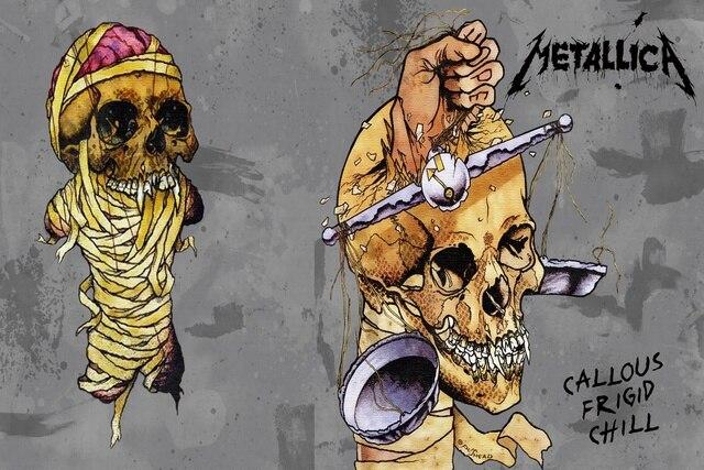 Metallica thrash metal pesado cubierta del álbum oscuro cráneo ...